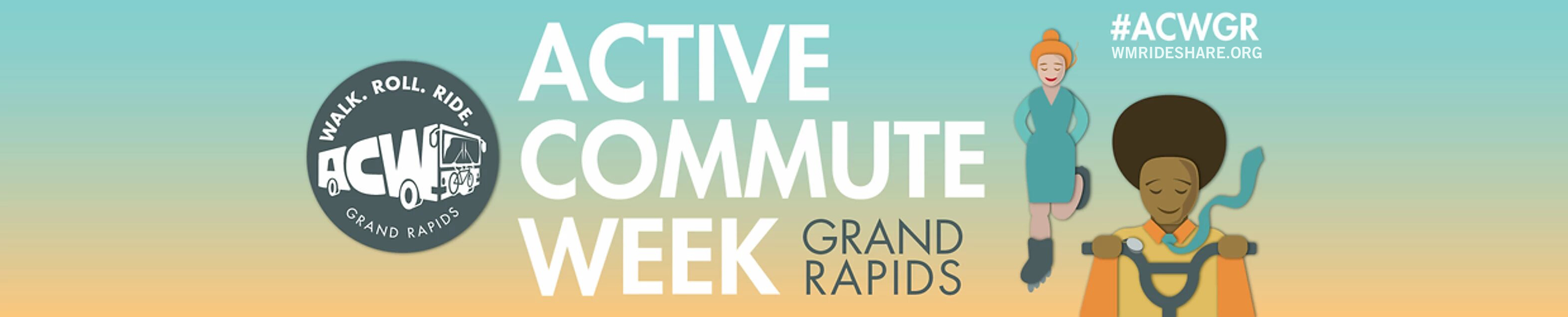 Walk. Roll. Ride. Active Commute Week, Grand Rapids, Michigan